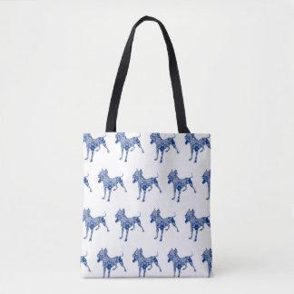 Taschen-Tasche Paisley-Hundenr. 1% pipe% Blau-| Tasche
