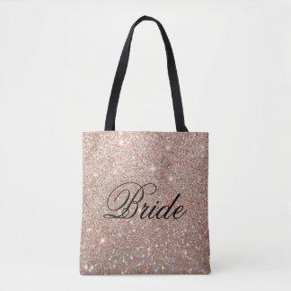 Taschen-Tasche - Rosen-GoldGlitter-Fab Braut Tasche
