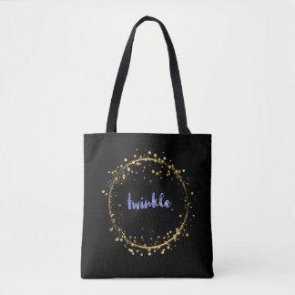 """Taschen-Tasche - violetter """"Twinkle"""" innerhalb Tasche"""