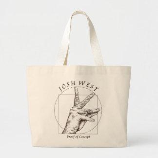 Taschen-Taschen-Beweis des Konzept-Schwarz-Logos Jumbo Stoffbeutel