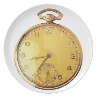 Taschen-Uhr-Platte Flache Teller