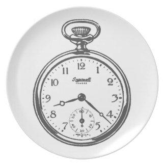 Taschen-Uhrgroßer Teller