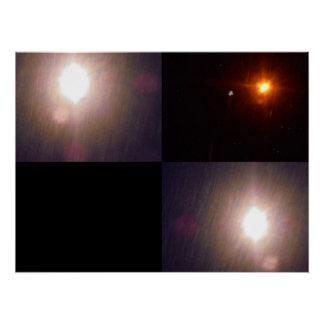 Taschenlampen. Die Dunkelheit und der Schnee Poster