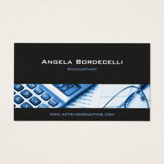 Taschenrechner-blaue Buchhaltungs-Visitenkarte Visitenkarte