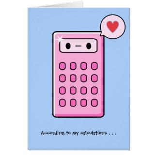 Taschenrechner-Liebe Karte