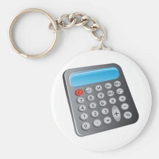 Taschenrechner Standard Runder Schlüsselanhänger