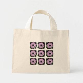 Taschentasche - lila Gänseblümchen Mini Stoffbeutel