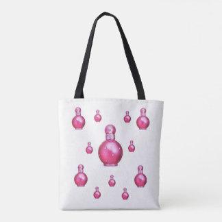 Taschentaschen-Wellness-Centerrosa-Parfümflaschen Tasche