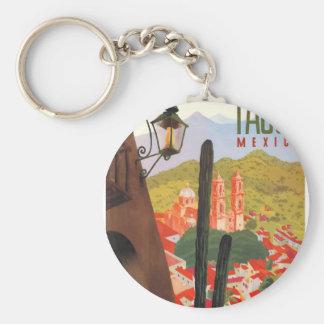 Tasco Mexiko Reise-Plakat 1950 Schlüsselanhänger