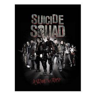 Task Force X der Selbstmord-Gruppen-| Aufstellung Postkarte