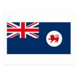 Tasmanien-Flaggen-Postkarte