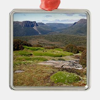 Tasmaniens Überlandbahn 2 Silbernes Ornament