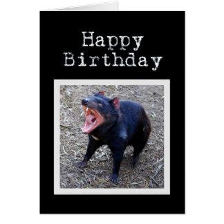 Tasmanischer Teufel-alles Gute zum Geburtstag Grußkarte