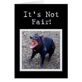 Tasmanischer Teufel-alles- Gute zum GeburtstagSpaß Karte