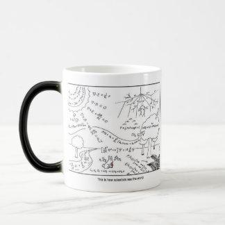 Tasse als Wissenschaftler sehen das Welt~