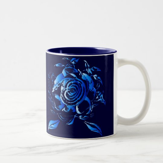 Tasse Blaue Rosen
