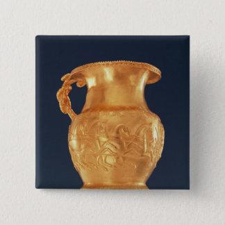 Tasse, c.380-350 BC Quadratischer Button 5,1 Cm