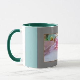 Tasse der Kirschblüten-Rosa-glückliche Mutter