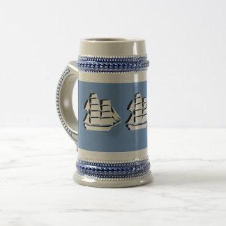 Tasse - drei Segeln-Schiffe