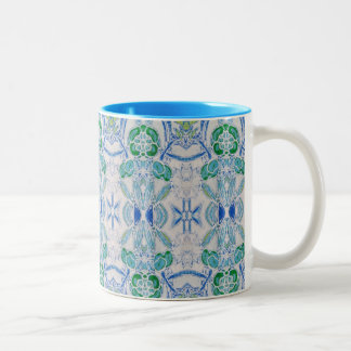 Tasse für Kaffee, Blau und Grün entwerfen
