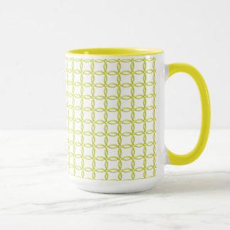 Tasse - gelbe ineinander greifenringe