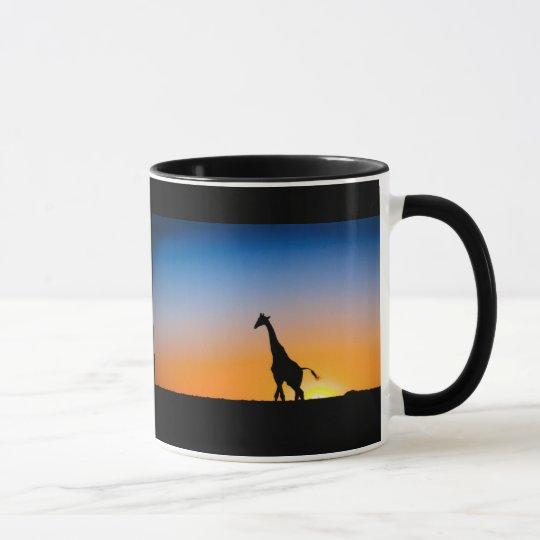 Tasse Giraffen Sonnenuntergang