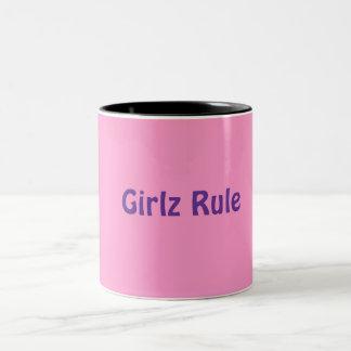 Tasse: Girlz Regel Zweifarbige Tasse