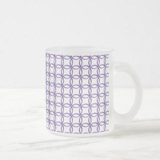 Tasse - ineinandergreifende lila Ringe