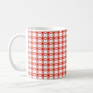 Tasse - ineinandergreifende rote Ringe