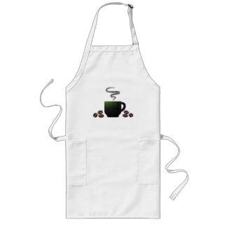 Tasse Kaffee mit Bohnen Lange Schürze