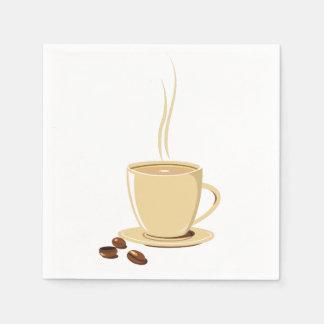 Tasse Kaffee Serviette