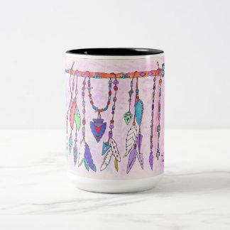 Tasse, Kaffeetasse, Hand gezeichneter Entwurf Zweifarbige Tasse