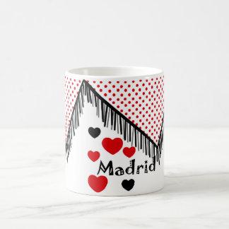 Tasse Madrid in den roten Muttermalen erinnern