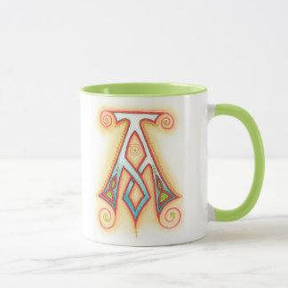 Tasse mit belichtetem keltischem