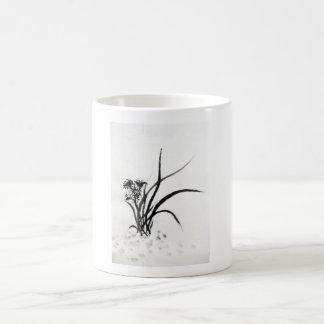 Tasse mit chinesischem Gras-Motiv