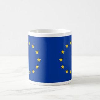 Tasse mit Flagge der europäischen Gewerkschaft