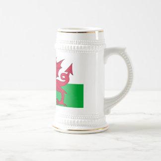 Tasse mit Flagge des Wales