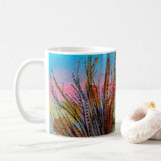Tasse mit handgemalten surreal Pflanzen