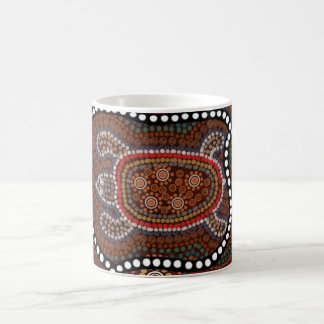 tasse mit schildkröte im aborigines stil