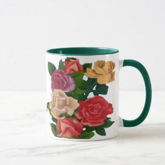 Tasse mit vielen Rosen