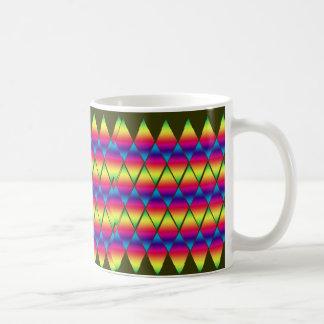 Tasse - Regenbogen-Diamanten