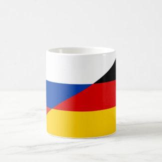 Tasse Russland/Deutschland Fahne