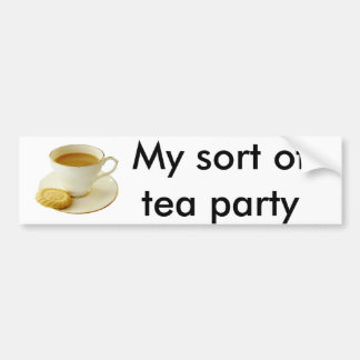 Tasse Tee mit Plätzchen Autoaufkleber
