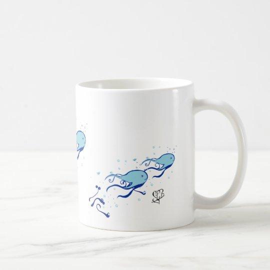Tasse - Tintenfisch