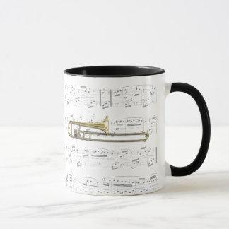 Tasse - Trombone (Alt) mit Blattmusik