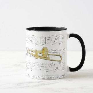 Tasse - Trombone (valved) mit Blattmusik