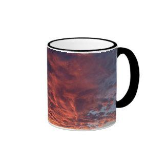 Tasse und ein Sonnenuntergang