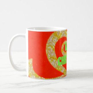 Tasse Verpackung-Bild Schablonen-frohe Weihnachten