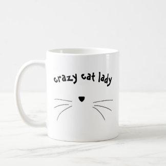 "Tasse ""verrückter Katzendame"""