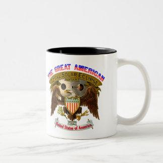 Tassen-Amerikaner-Adler der Eklipse-15oz Zweifarbige Tasse